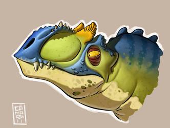 Allosaurus by CamaraSketch