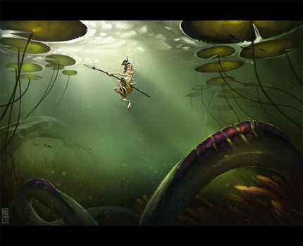 Underwater encounter