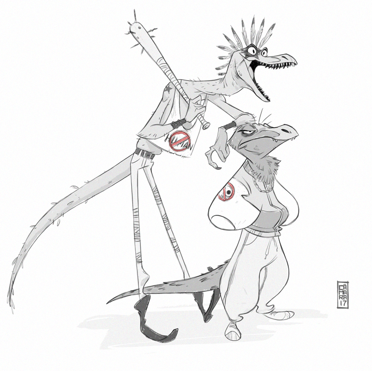 Raptors by CamaraSketch