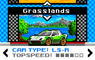 Nomad Rally 2018 eJagFest Demo - selection screen
