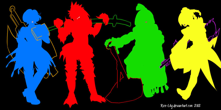 Monster Hunter Hero Silhouettes By Rice Lily On Deviantart