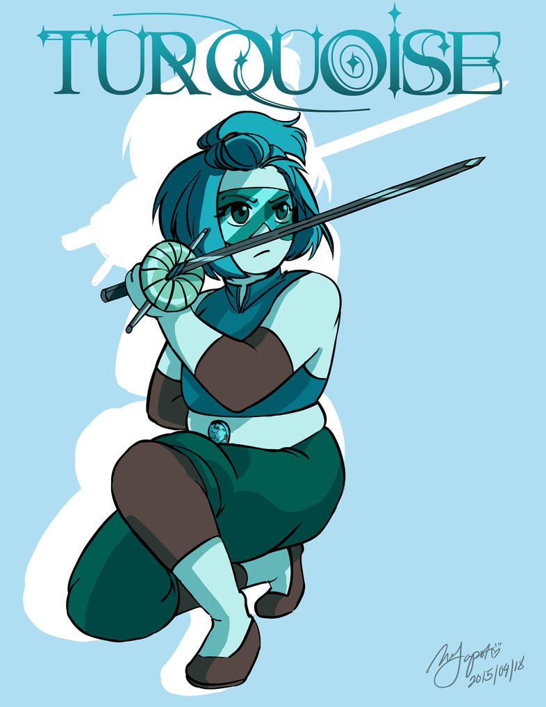 Commission: Gemsona-Turquoise by Rice-Lily