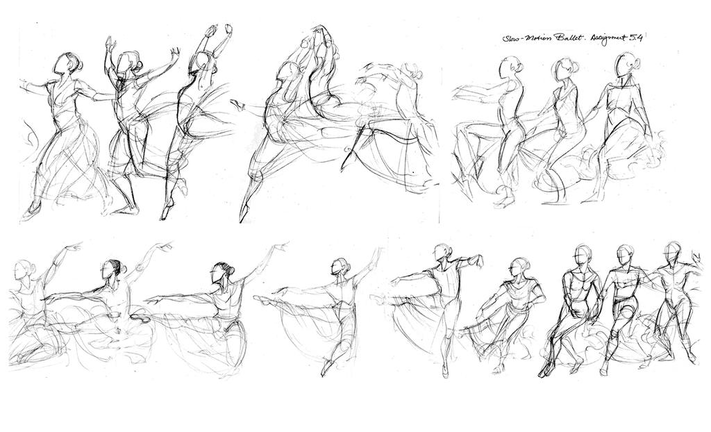 Ballet Studies by Rice-Lily