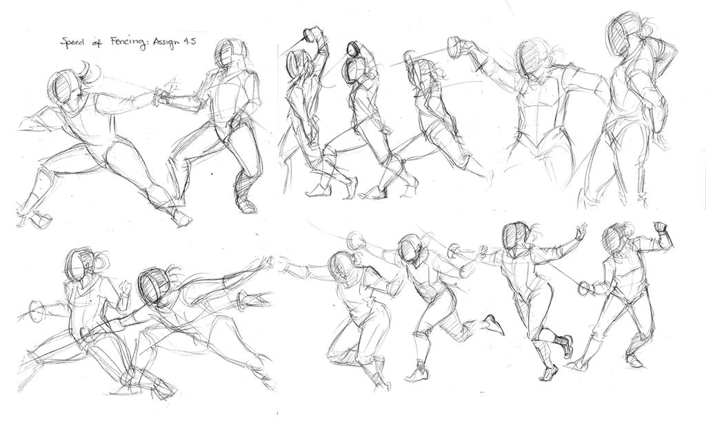Fencing Studies by Rice-Lily