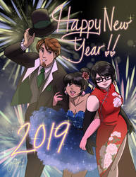 Happy New Year 2019 by Rice-Lily