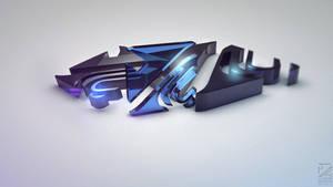 My new 3D logo by DWXak