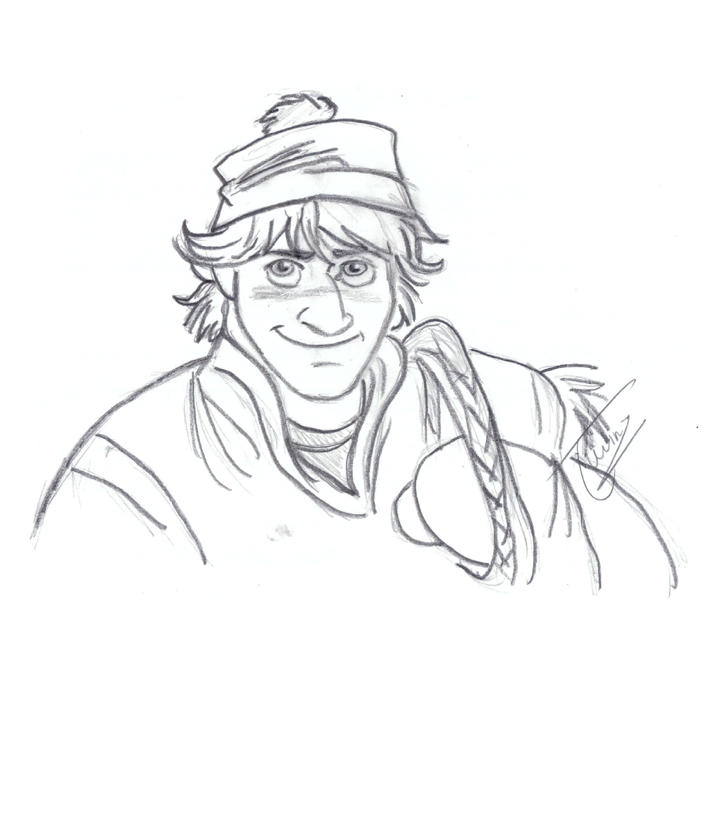 Kristoff - Sketch - Collab by Pussycat-PuppyHow To Draw Kristoff From Frozen Easy