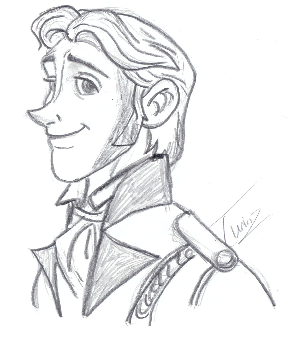 Prince hans frozen coloring pages -  Hans Sketch Collab By Cjtwins