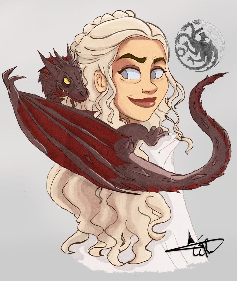 Daenerys Targaryen by cjtwins