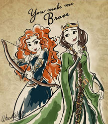 Elinor And Merida by Wiccatwolf