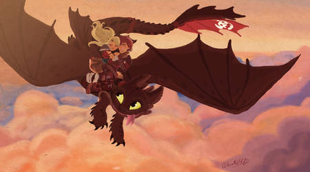 Romantic Flight - Commission by Wiccatwolf