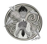 Commission pin of Goerge Paperman by Wiccatwolf