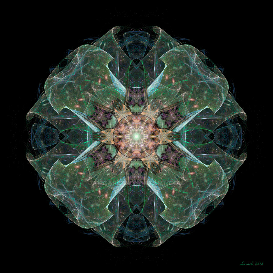 Celtic Sheild Fractal by 12CArt