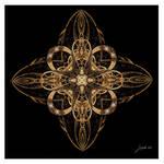 Gold Cross Fractal