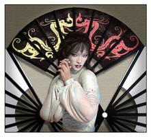 Shy Japenese Geisha by 12CArt