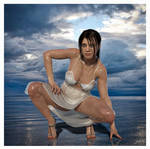 3D Model Beach With Wet Dress by 12CArt