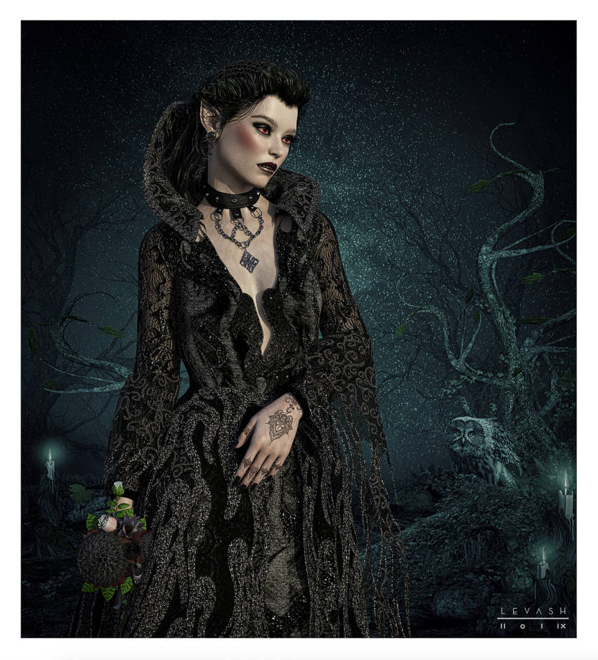 Mistress Of The Dark V2 by 12CArt