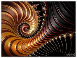 Fractal Complex Spiral Hazelnut MOTIF