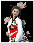 Oriental Flower In Kimono V2