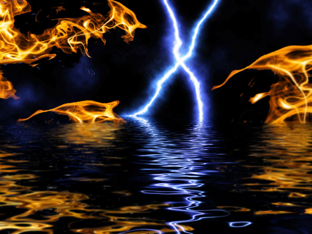 Fire, Lightning and Water by LarryDNJR on DeviantArt