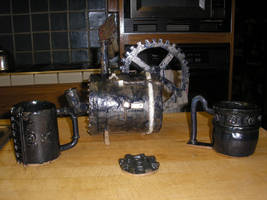 Steam Punk Tea Set by Kristiantheconqueror
