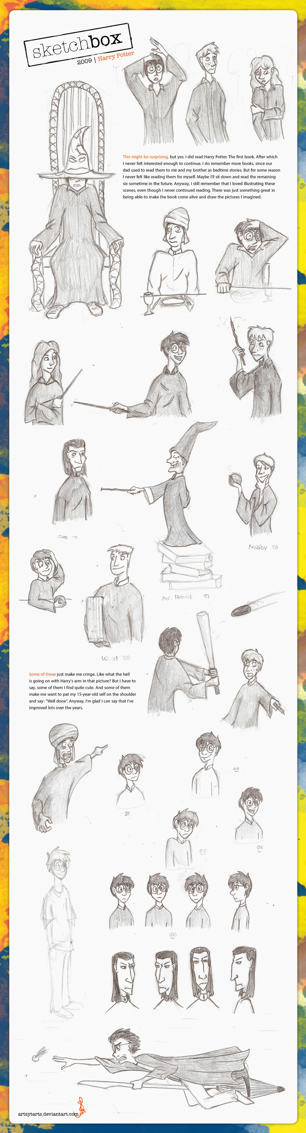 Sketchbox4 2009 Harry Potter by artsytarts