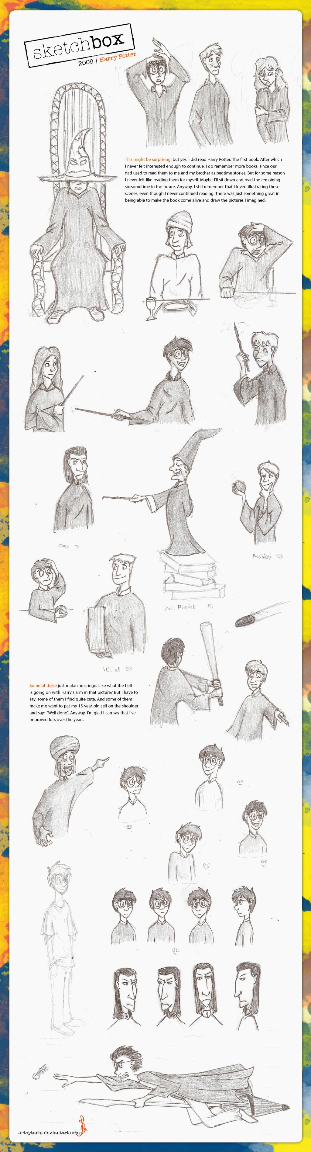 Sketchbox4 2009 Harry Potter by artsytarts
