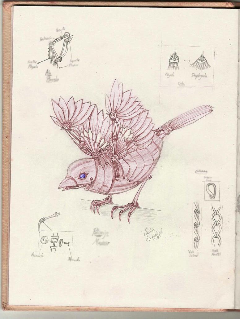 mechanical bird by brujimoon