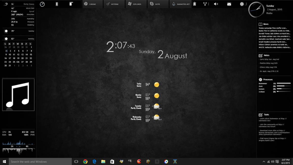 Windows 10 Desktop w/Rainmeter by huparker89 on DeviantArt
