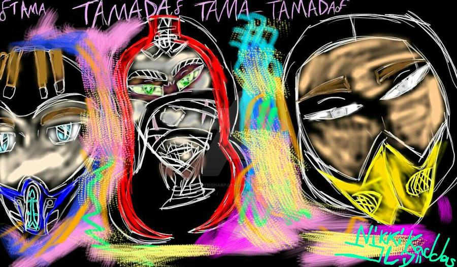 The Three Ninjas of Primary Colors TAMADA by KirbyBisharp