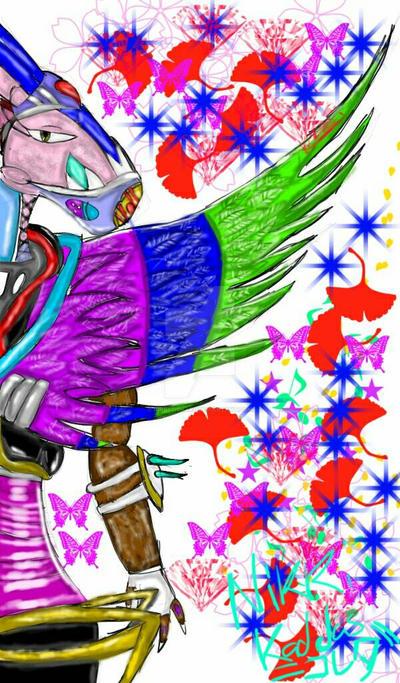 My OC Extending Her Wing by KirbyBisharp