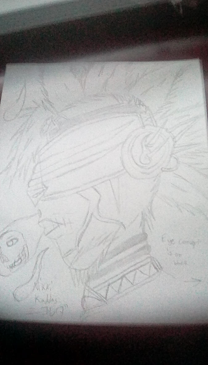 Ermac Neon Punk Head Concept by KirbyBisharp