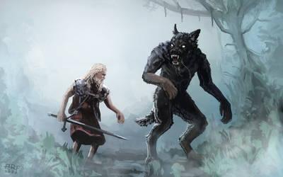 Werewolf battle