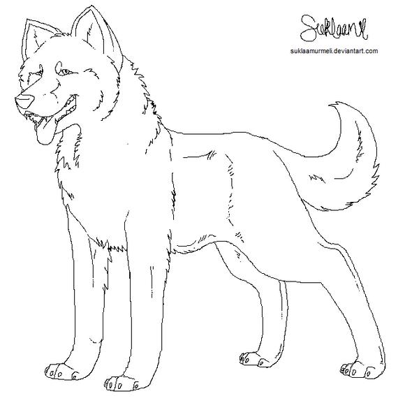 ms paint dog wolf template by suklaamurmeli on deviantart