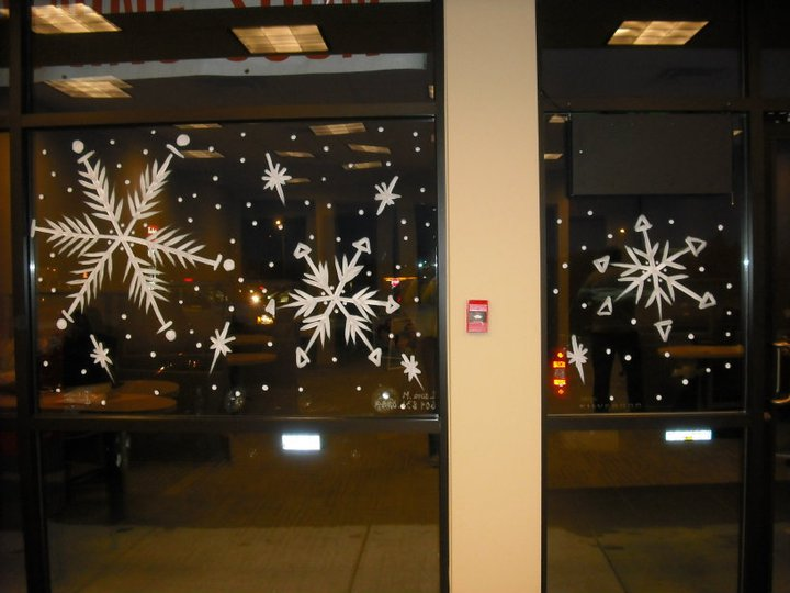 Large Snow Flakes By Window Painting On Deviantart