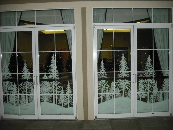 Double Paint Windows : Pin snowy scene forest landscape nature wallpapersupnet on