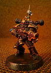 Black legion space marine with flamer by Naarok0fKor