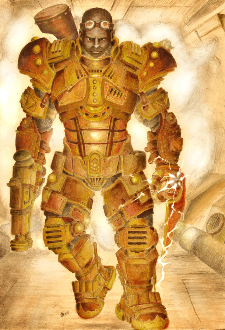 Steampunk Reinvention: John Shepard Heavy Armor by zabani