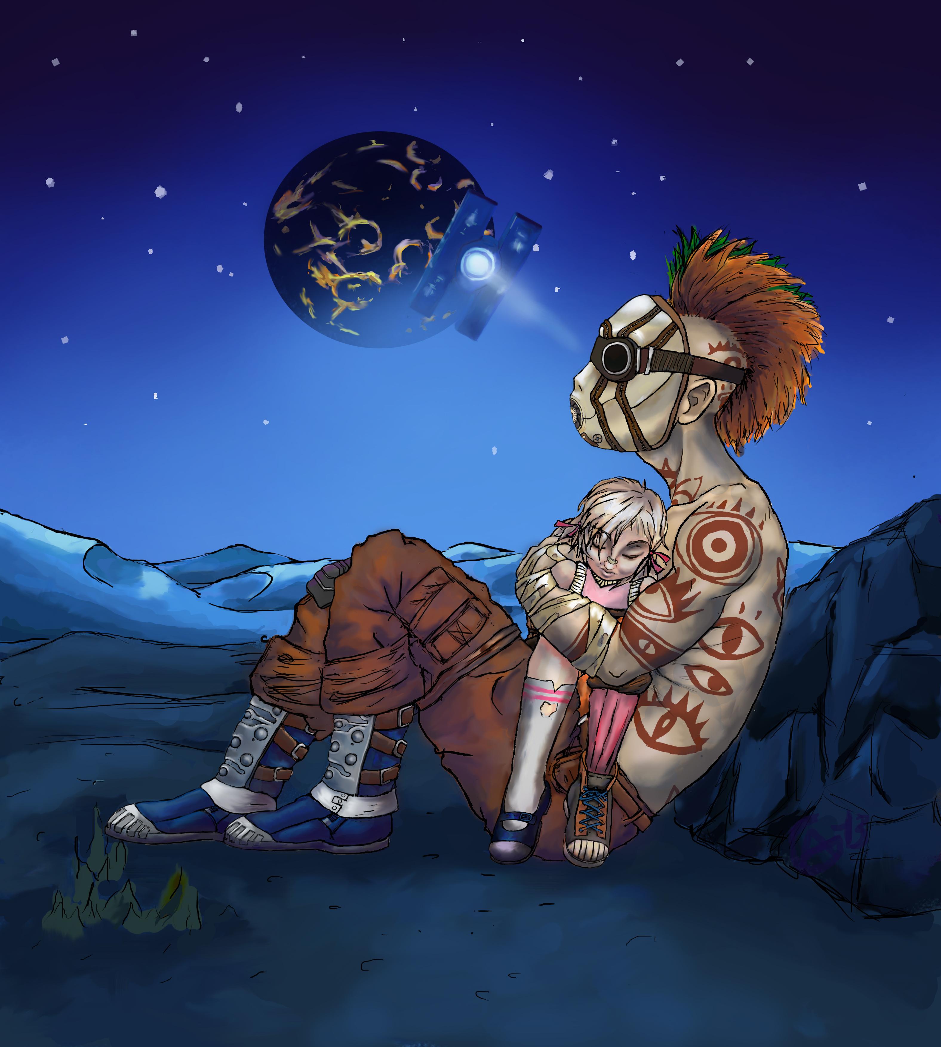 Borderlands Mr. Stick and Tiny Tina. by AG-sArt on DeviantArt