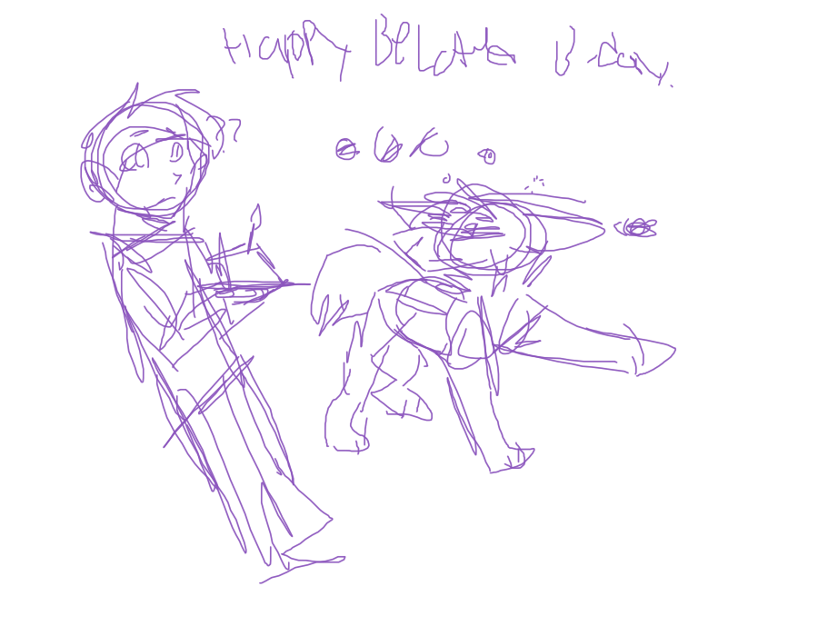 Happy Beltated Birthday KuleDraws