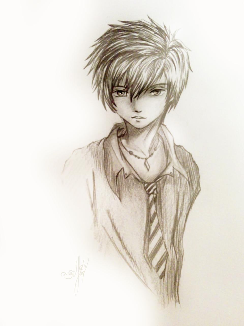 Cool boy sketch