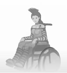 Wheel Chair Girl-Taylor by jimyeh00