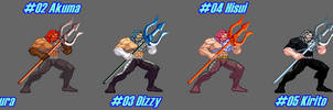 (MUGEN) Aquaman by Ghost Rider - Palettes