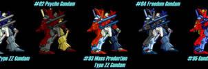 (MUGEN) GundamDoubleZeta by taurusac195 - Palettes