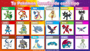 My Favourites Pokemons of Each Type