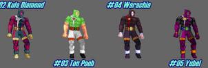 (MUGEN) Deadpool by DarkWolf13 - Palettes