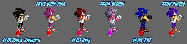 (MUGEN) Neo Sonic by Midnight Spirit - Palettes
