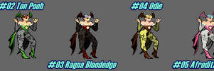 (MUGEN) Lilith Aensland by Misao - Palettes