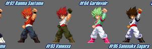 (MUGEN) Goku SSJ by Team Z2 - Palettes