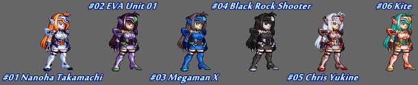 (MUGEN) KOS-MOS by Drowin - Palettes